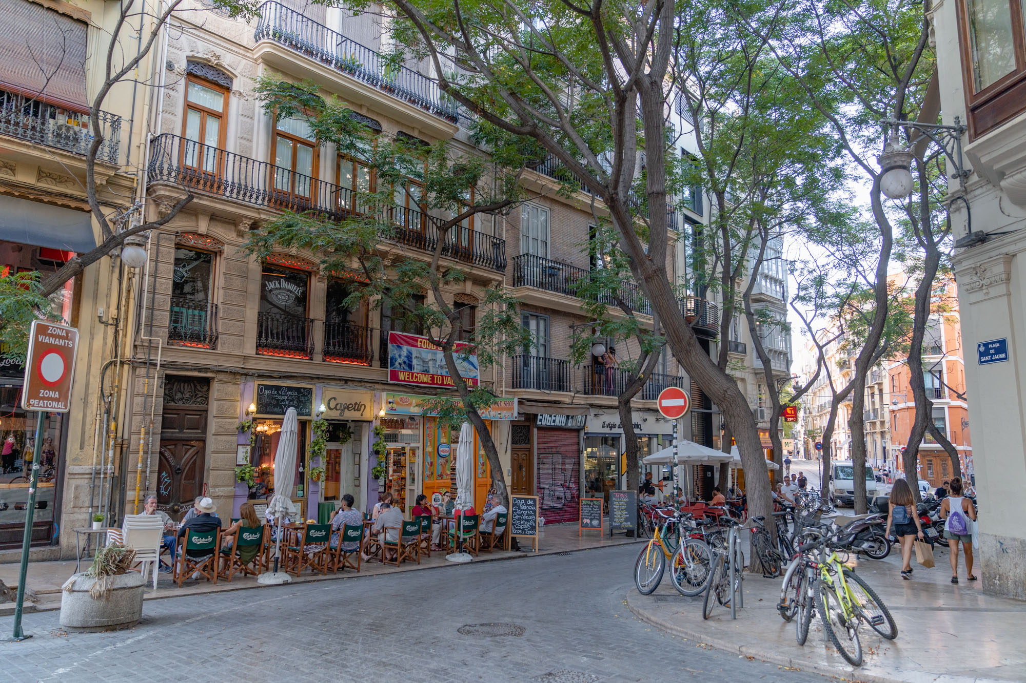 Barrio del Carmen is one of the most famous neighborhoods in Valencia