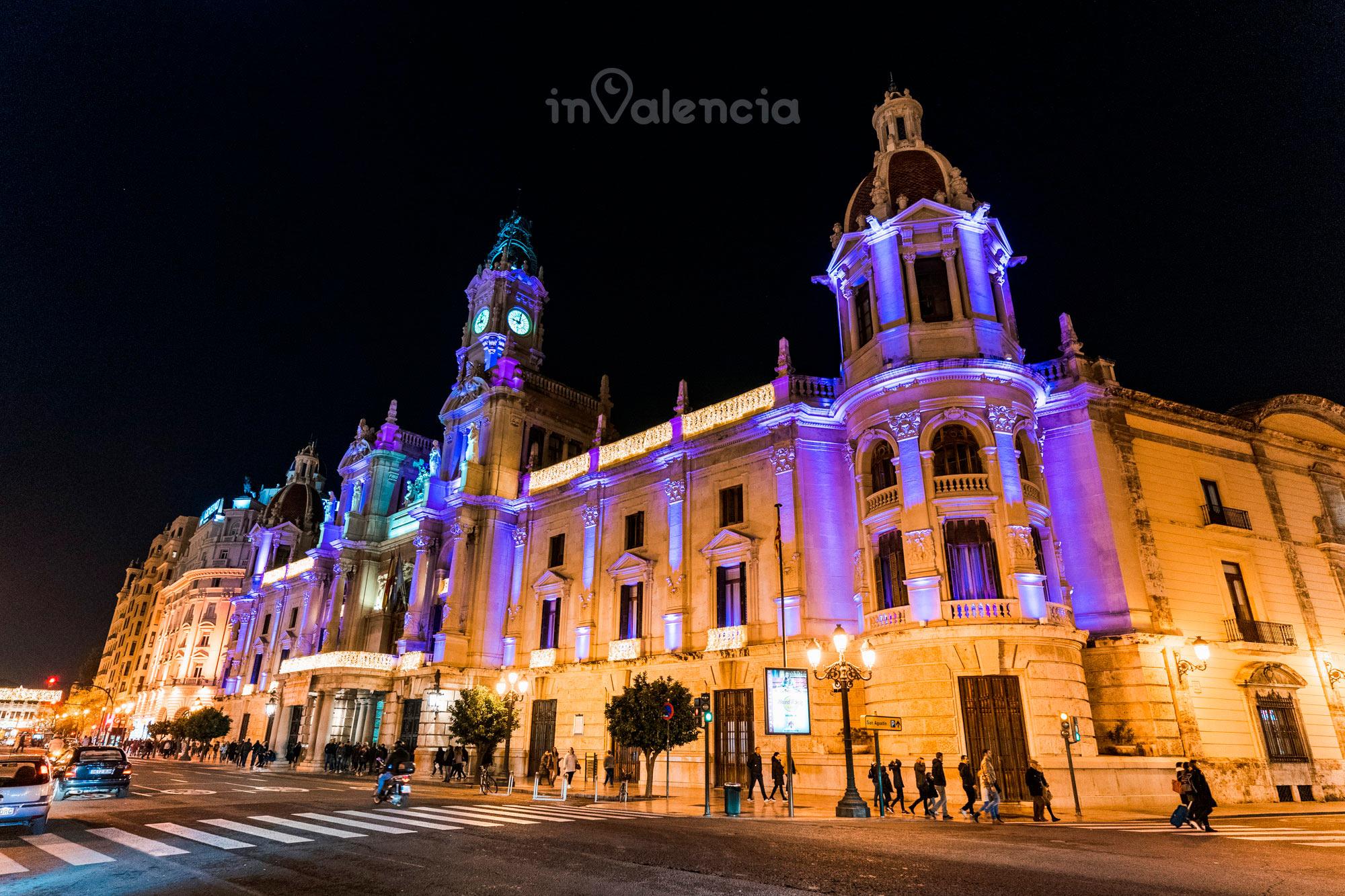 Evento de nochevieja en el Ayuntamiento de Valencia